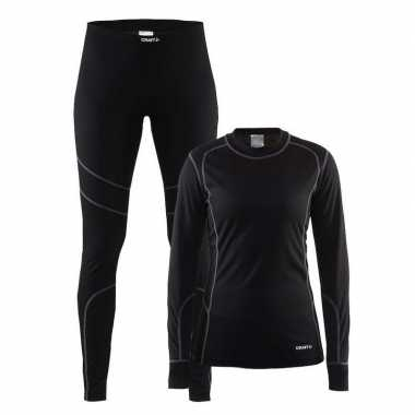 Craft sportkleding thermopak zwart dames
