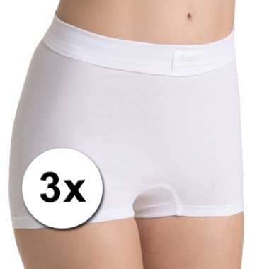 X Sloggi double comfort dames shorts wit